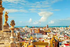 Aerial view of Cadiz, Spain Royalty Free Stock Images