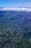 Aerial view of Cafres plain Reunion island Royalty Free Stock Photo