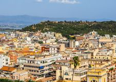 Aerial view of Cagliari (hdr) Foto de archivo