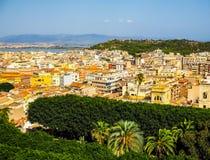 Aerial view of Cagliari (hdr) Fotos de archivo libres de regalías