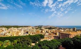Aerial view of Cagliari (hdr) Imagen de archivo libre de regalías