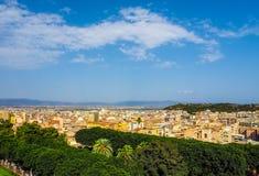 Aerial view of Cagliari (hdr) Foto de archivo libre de regalías