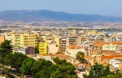 Aerial view of Cagliari (hdr) Imágenes de archivo libres de regalías