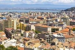 Aerial view of Cagliari old town, Sardinia, Italy Stock Photo