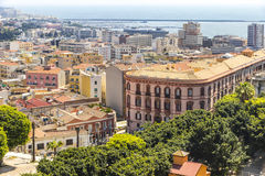 Aerial view of Cagliari old town, Sardinia, Italy Royalty Free Stock Photography