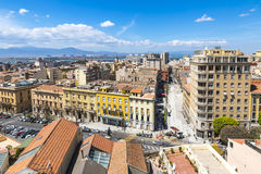 Aerial view of Cagliari old town, Sardinia, Italy Stock Image