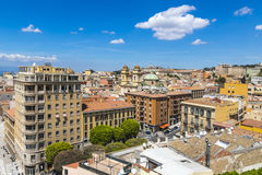 Aerial view of Cagliari old town, Sardinia, Italy Stock Images