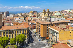Aerial view of Cagliari old town, Sardinia, Italy Royalty Free Stock Photo