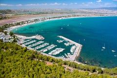 Aerial view on Cagliari; sardinia. Stock Photo