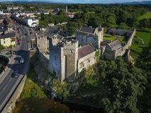 Aerial view. Cahir Castle. county Tipperary. Ireland. Aerial view of Cahir Castle. Cahir. co. Tipperary. Ireland Stock Image