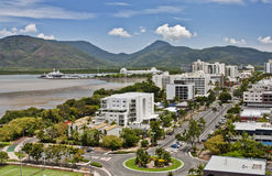 Aerial view Cairns QLD. Aerial view of tropical city of Cairns QLD Stock Photos