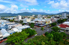 Aerial view of Cairns Queensland Australia royalty free stock photography