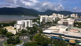 Aerial view of Cairns Queensland Australia stock video