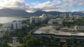 Aerial view of Cairns Queensland Australia stock video footage