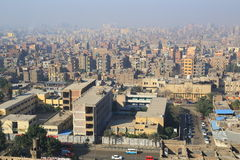 Aerial view of Cairo Stock Photo