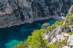 Aerial view of the Calanque of En vau Stock Photography