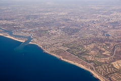 Aerial view of California Royalty Free Stock Images