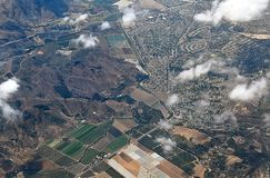 Aerial view of rural landscape, California Royalty Free Stock Photo