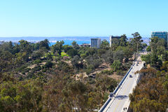 Aerial view from California Tower at Museum of Man in Balboa Park Royalty Free Stock Photography