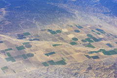 Aerial view of the California valley Stock Image