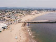 Aerial view on the Californian Pacific ocean cliffs. From above stock image