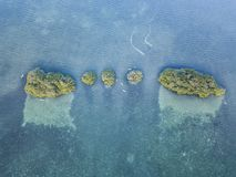 Aerial View of Mangrove Islands and Kayakers Stock Photography