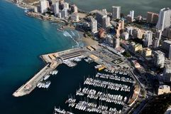 Aerial view of Calpe Royalty Free Stock Photography