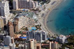 Aerial view of Calpe Royalty Free Stock Photos