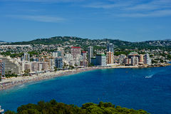 Aerial view of Calpe Stock Photos