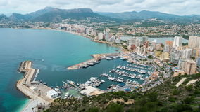 Aerial view of Calpe, Costa Blanca stock video