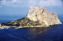 Aerial view of Calpe, Costa Blanca, Spain Royalty Free Stock Image