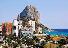 Aerial view of Calpe, Costa Blanca, Spain Stock Photos