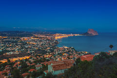 Aerial view of Calpe, Spain Stock Image