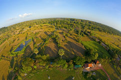 Aerial view of Cambodian countryside Stock Images