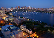 Aerial view of Cambridge and Boston Royalty Free Stock Photo