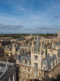Aerial view of Cambridge stock photos