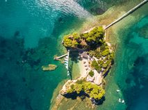Aerial view of Cameo Island in Zakynthos Zante island, in Gree. Ce Stock Image