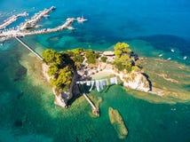 Aerial view of Cameo Island in Zakynthos Zante island, in Gree. Ce Stock Photos