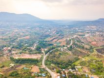 Aerial view of rural area in Khao Kho district Stock Images