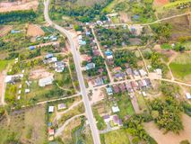Aerial view of rural area in Khao Kho district Royalty Free Stock Images