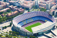 Aerial view of Camp Nou - largest stadium of Barcelona Royalty Free Stock Photos