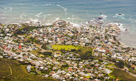 Aerial View of Camps Bay Stock Photography