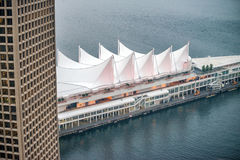 Aerial view of Canada Place, Vancouver - BC Royalty Free Stock Photos