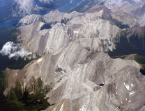 Aerial view of the Canadian Rockies, Canada Stock Image
