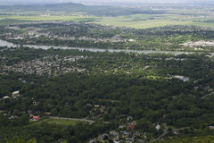 Aerial view of a canadian suburb Royalty Free Stock Photos