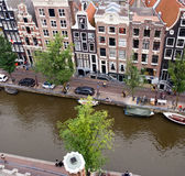 Aerial view on canal houses Royalty Free Stock Image
