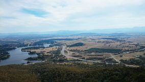 Aerial View of Canberra Royalty Free Stock Image