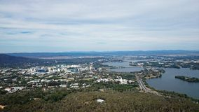 Aerial View of Canberra Stock Images