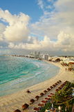 Aerial view of Cancun, Mexico. Royalty Free Stock Photos