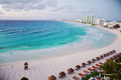 Aerial view of Cancun, Mexico. Royalty Free Stock Photography
